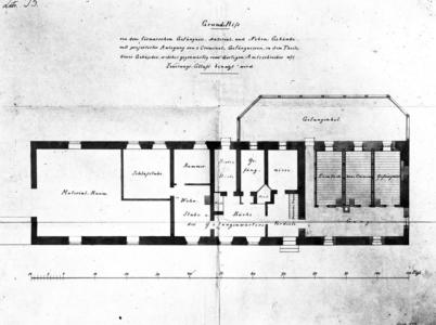 Kloster, Gefängnis, Grundrisszeichnung
