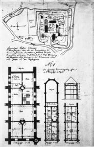Kloster, Lageplan und Grundrisse